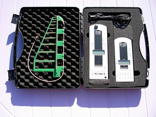 When you buy these two Gigaherz Solutions meters together from Safe Living Technologies in Ontario (the ME 3030B and the HF 35C), you get a 10% discount and this nifty free carry case. I paid $620 for my set, including tax and shipping.