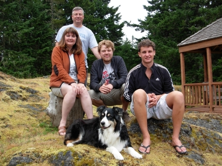 Weiss Family: Karen, Tom, Jordan , Colin (and family dog Keisha)
