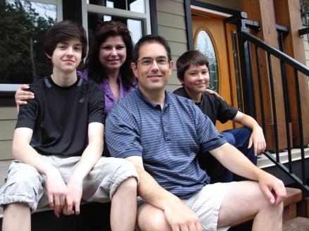 La familia Jeske: Evan, Tammy, Robb, Jaden (Foto © Kim Goldberg 2013)