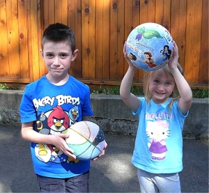Tyler & his sister Julianna with both be attending schools in the Victoria School District to avoid wi-fi in classrooms. (Photo © Kim Goldberg)