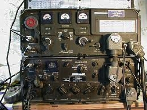 The AN-GRC 106 was a 200-watt high frequency receiver/transmitter used by George and his troop for for back-up communications