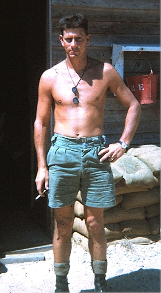 George outside of his quarters, South Vietnam, 1969