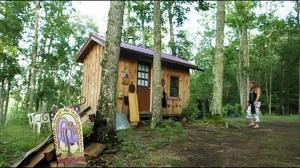 Jennifer Wood's cabin in Greenbank, West Virginia.