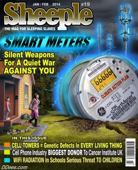 Sheeple, Issue #19, Smart Meter cover art © David Dees