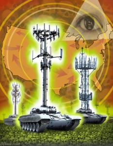 Cell Tower Tanks / Weapons of Mass Stupidity © David Dees