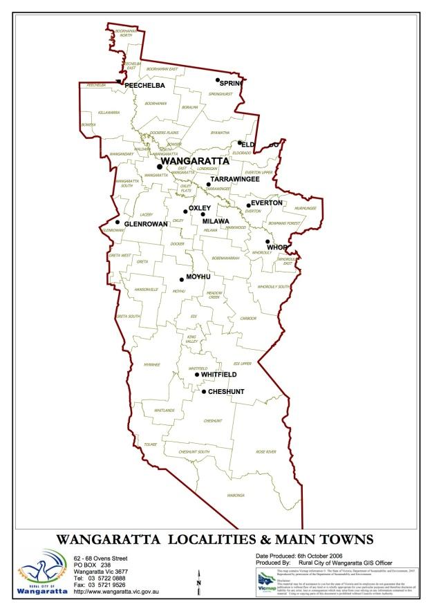 Wangaratta Map